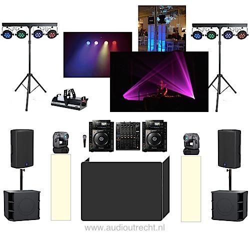 Complete disco set licht geluid 3