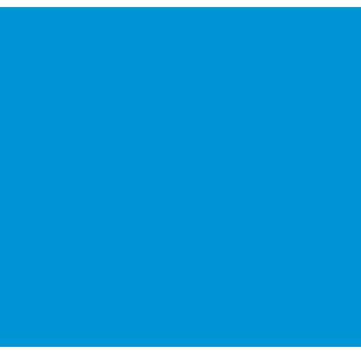 Blauwe headset