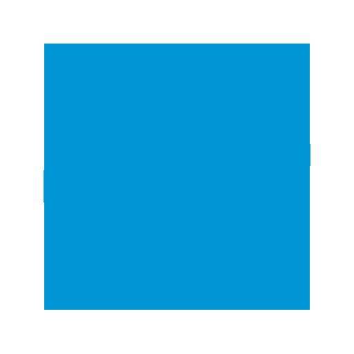 Blauwe smiley